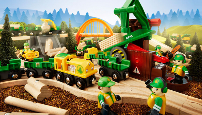 Set de tren deluxe BRIO World, 33870 11