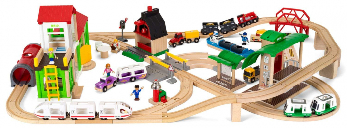 Set de tren deluxe BRIO World, 33870 2
