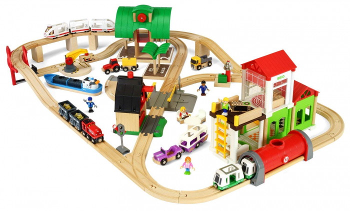 Set de tren deluxe BRIO World, 33870 3