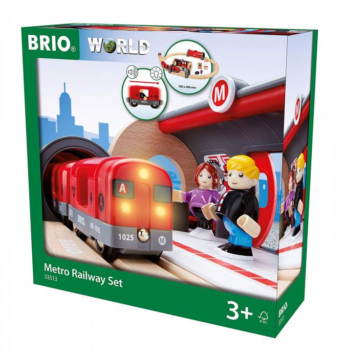 Set de tren tip metrou, Brio 33513 1