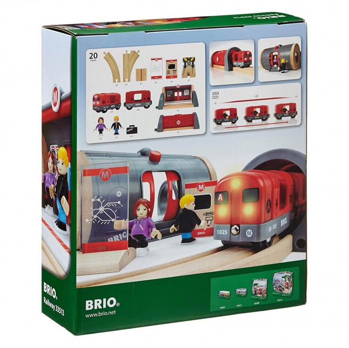 Set de tren tip metrou, Brio 33513 9