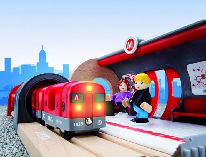 Set de tren tip metrou, Brio 33513 8