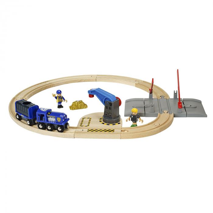 Set transport poliție, Brio 33812 2