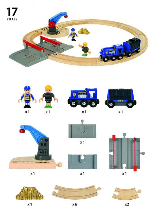 Set transport poliție, Brio 33812 7
