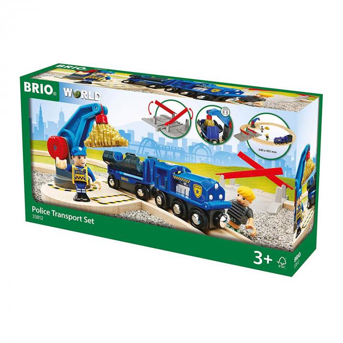 Set transport poliție, Brio 33812 1