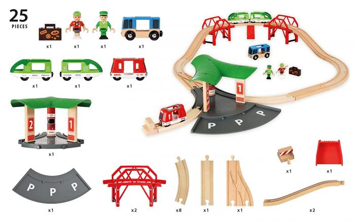 Set de transport de persoane, cu stație de autobuz, Brio 33627 7