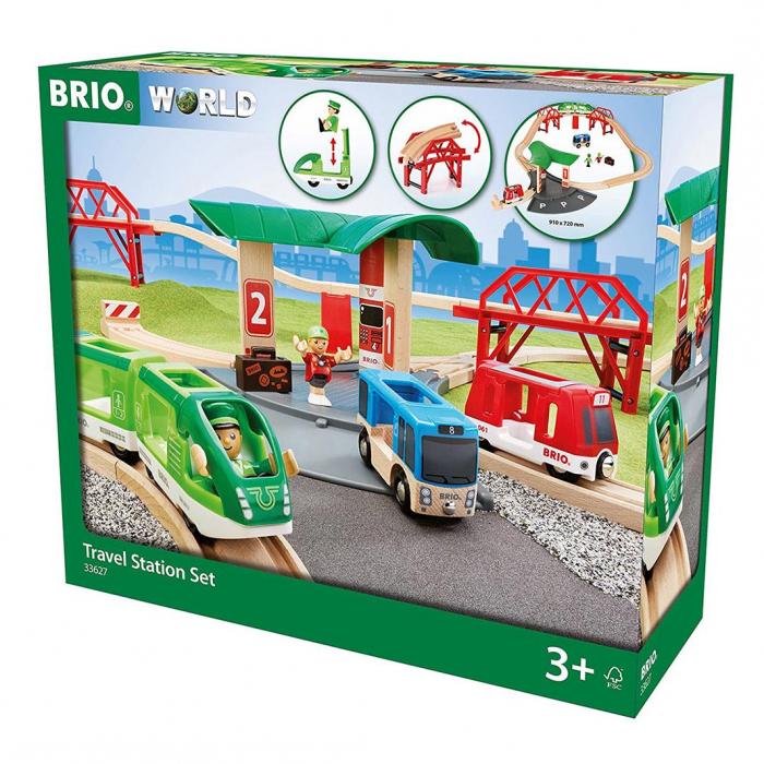 Set de transport de persoane, cu stație de autobuz, Brio 33627 1