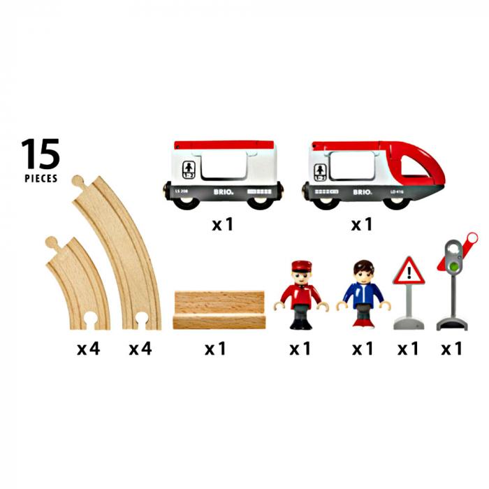 Set trenuleț pasageri rotund, Brio 33511 4
