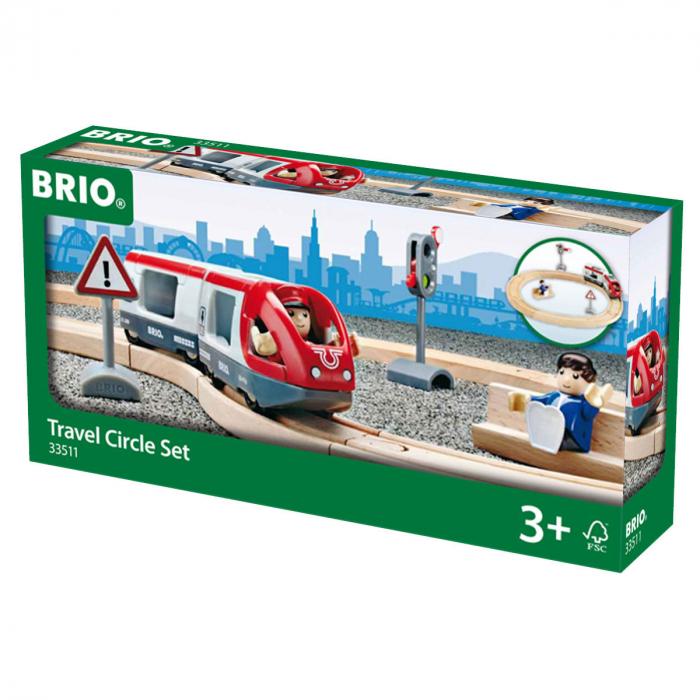 Set trenuleț pasageri rotund, Brio 33511 1