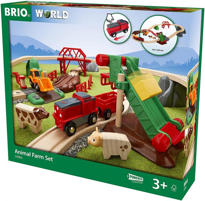 Set trenuleț animale fermă, Brio 33984 1