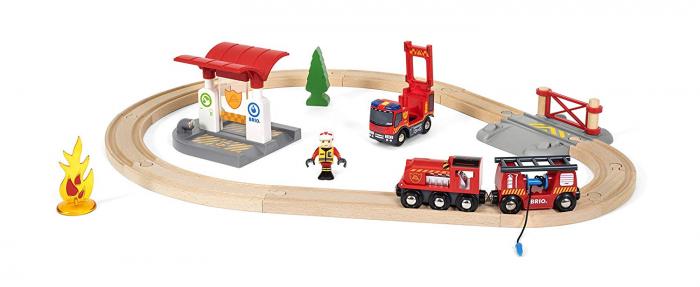 Set trenuleț pompieri, Brio 33815 2