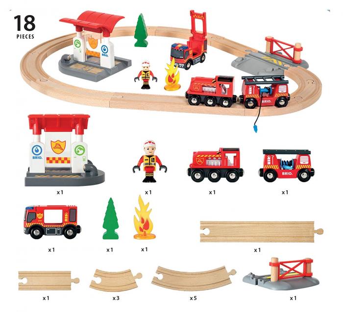 Set trenuleț pompieri, Brio 33815 5