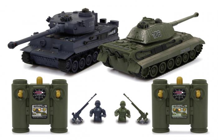 Tancuri cu telecomandă Panzer Tiger Battle 1:28, Jamara 403635 0