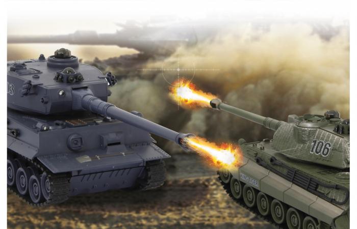 Tancuri cu telecomandă Panzer Tiger Battle 1:28, Jamara 403635 9