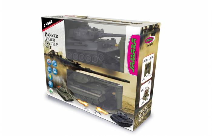 Tancuri cu telecomandă Panzer Tiger Battle 1:28, Jamara 403635 1