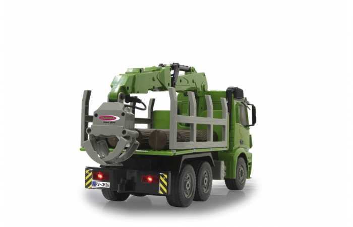 Transportor de cherestea cu telecomandă Mercedes-Benz Arocs 1:20, Jamara 404935 6