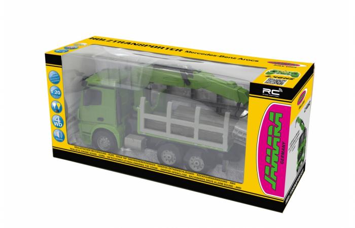 Transportor de cherestea cu telecomandă Mercedes-Benz Arocs 1:20, Jamara 404935 1