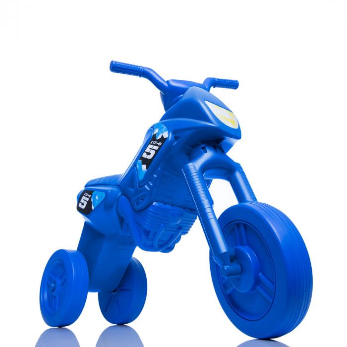 Tricicletă fără pedale Enduro - albastru-albastru 0