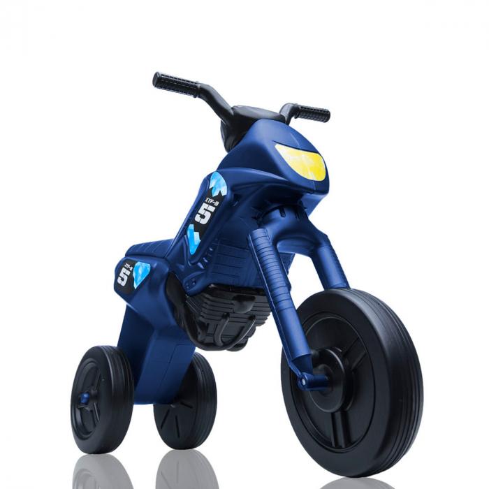 Tricicletă fără pedale Enduro - albastru metalic-negru 0