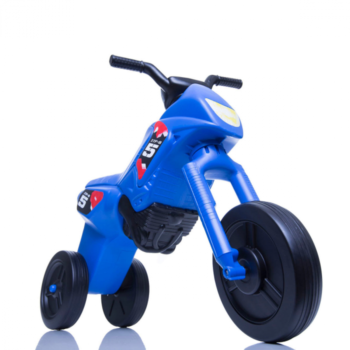 Tricicletă fără pedale Enduro - albastru-negru 0
