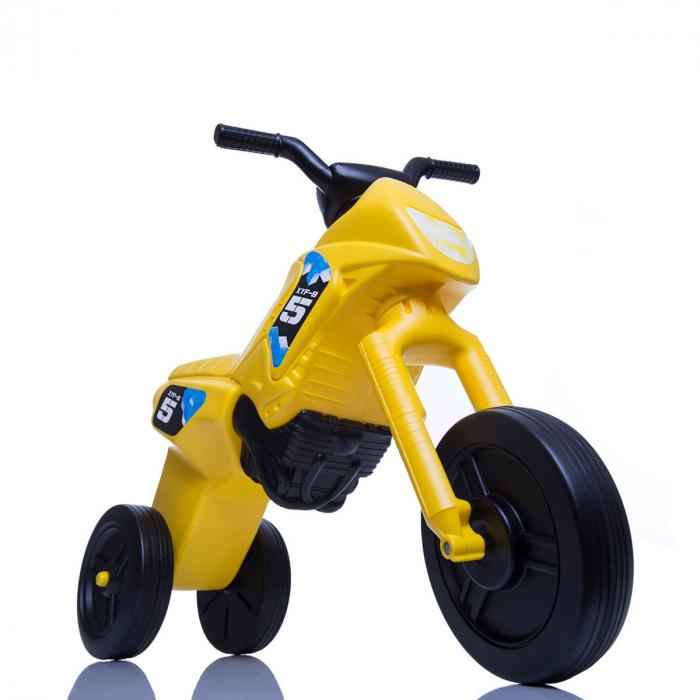 Tricicletă fără pedale Enduro - galben-negru 0