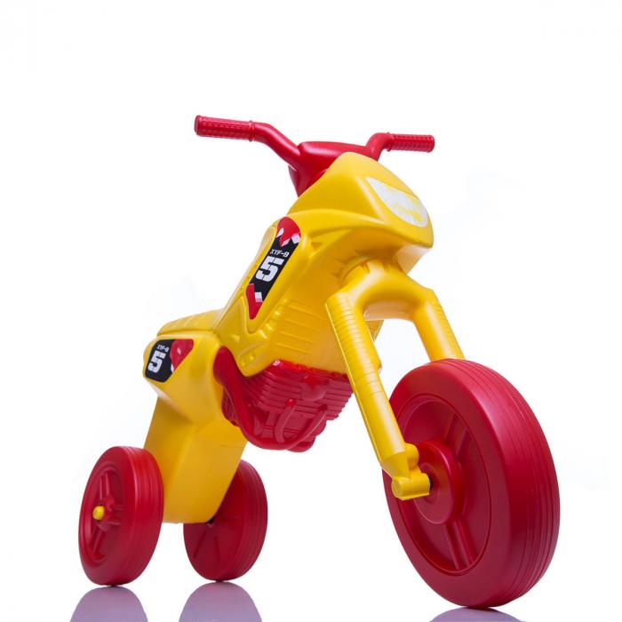 Tricicletă fără pedale Enduro - galben-roșu 0