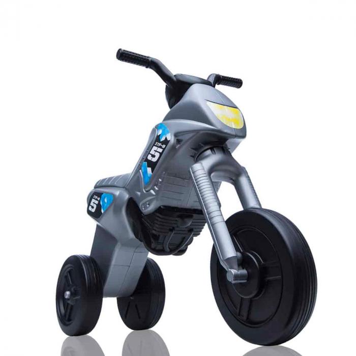 Tricicletă fără pedale Enduro - gri-negru 0
