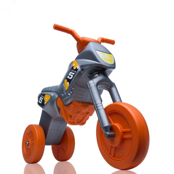 Tricicletă fără pedale Enduro - gri-portocaliu 0