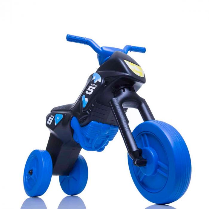 Tricicletă fără pedale Enduro - negru-albastru 0