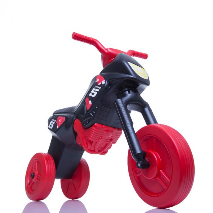 Tricicletă fără pedale Enduro - negru-roșu 0