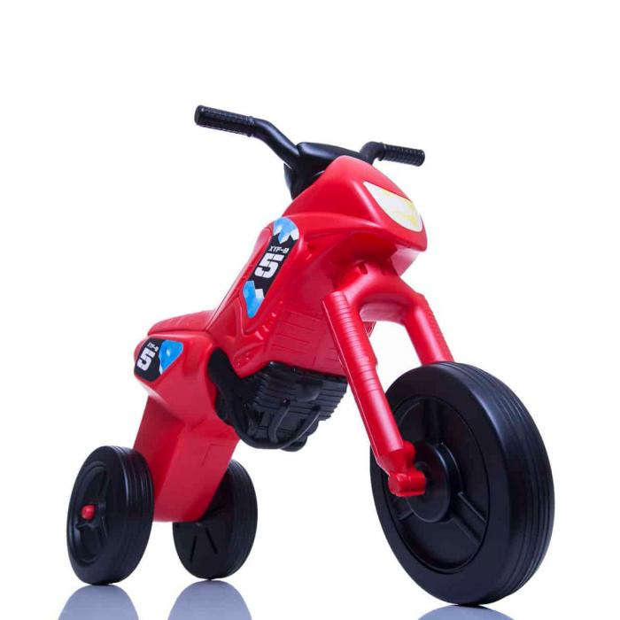 Tricicletă fără pedale Enduro - roșu-negru 0
