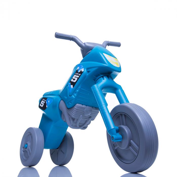 Tricicletă fără pedale Enduro - turcoaz-gri 0