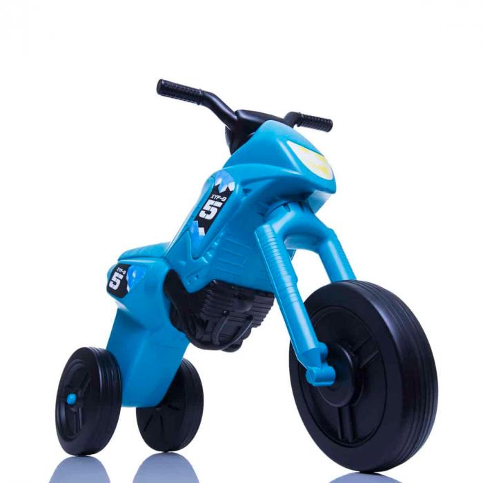 Tricicletă fără pedale Enduro - turcoaz-negru 0