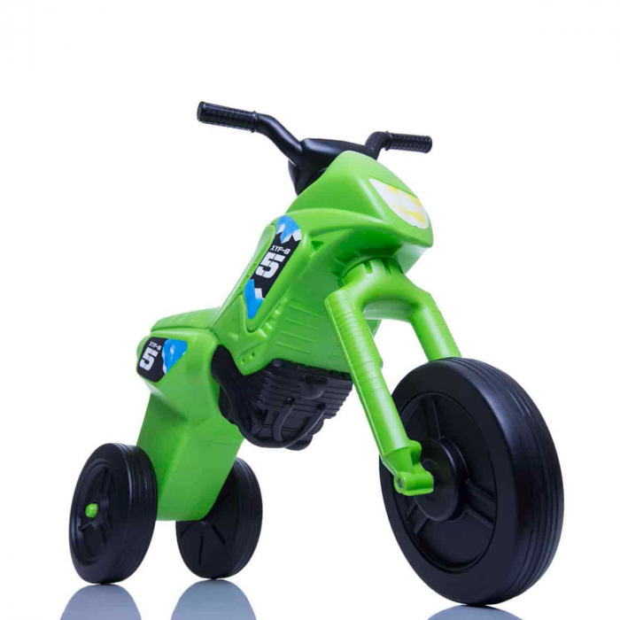 Tricicletă fără pedale Enduro - verde-negru