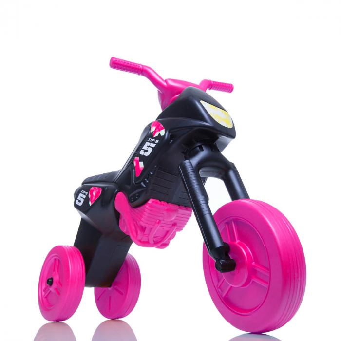 Tricicletă fără pedale Enduro - negru-roz 0