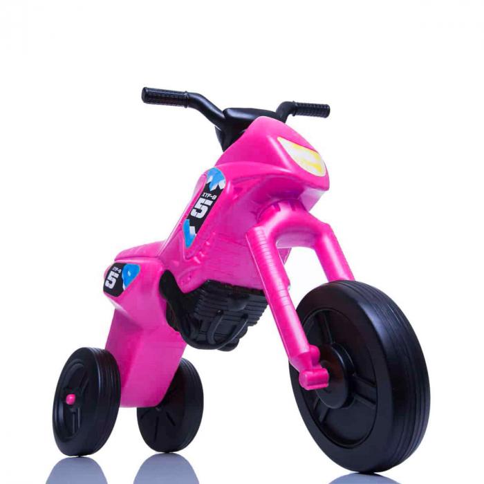Tricicletă fără pedale Enduro - roz-negru 0