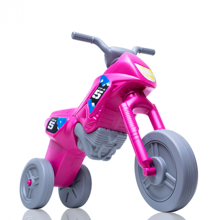 Tricicletă fără pedale Enduro - roz-gri [0]