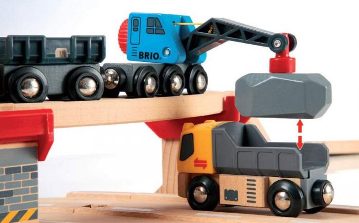 Un set conținând șosea și cale ferată pentru carieră, Brio 33210 [3]