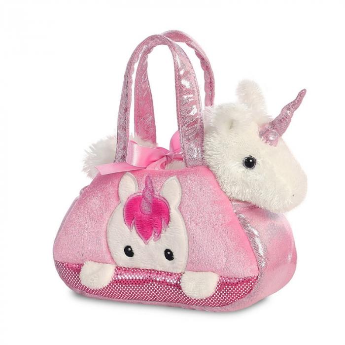 Unicorn in geanta roz - Fancy Pal - 20 cm, Aurora 32795 0