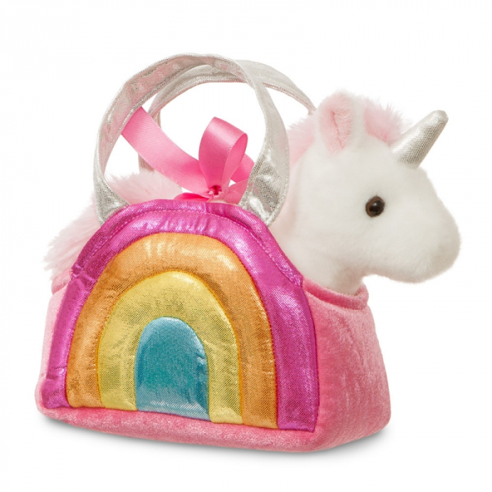 Unicorn in geanta curcubeu - Fancy Pal - 20 cm, Aurora 61171 0