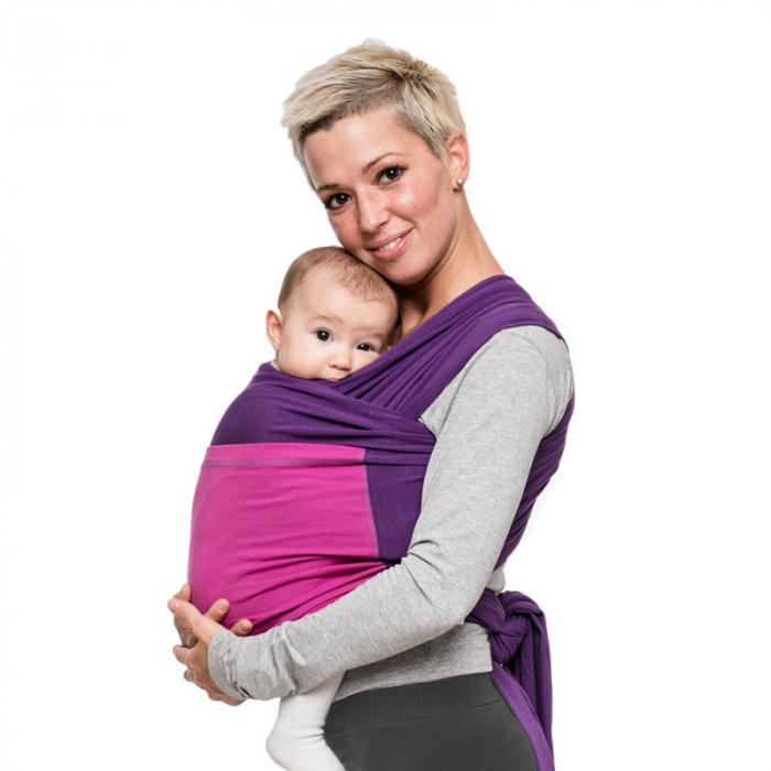 Wrap elastic Liliputi® Duo line - Purple-Fuchsia 0