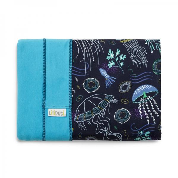 Wrap elastic Liliputi® Rainbow line - Deep Blue 1