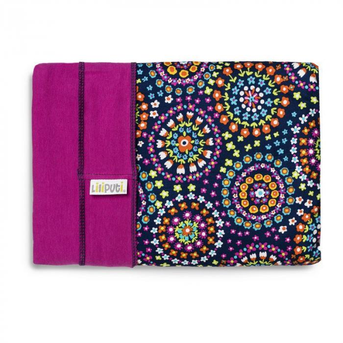 Wrap elastic Liliputi® Rainbow line - Mandala Bloom 0