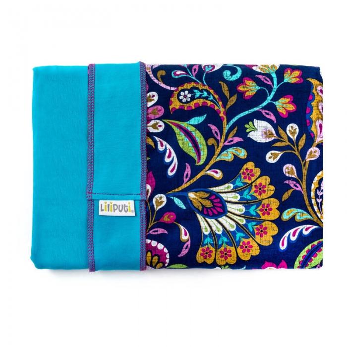 Wrap elastic Liliputi® Rainbow line - Peacock Bloom 1