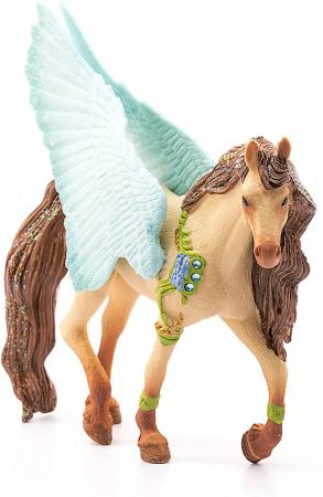 Armăsar Pegasus decorat - Figurina Schleich 705743