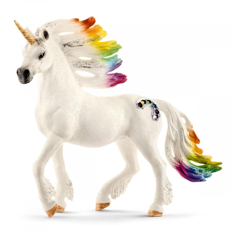 Armăsar unicorn curcubeu cu strasuri - Figurina Schleich 705230