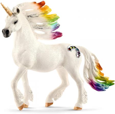 Armăsar unicorn curcubeu cu strasuri - Figurina Schleich 705234