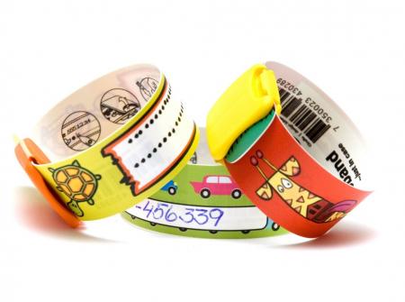 Brățară refolosibilă de identificare pentru copii Infoband - Cu iepuraș7