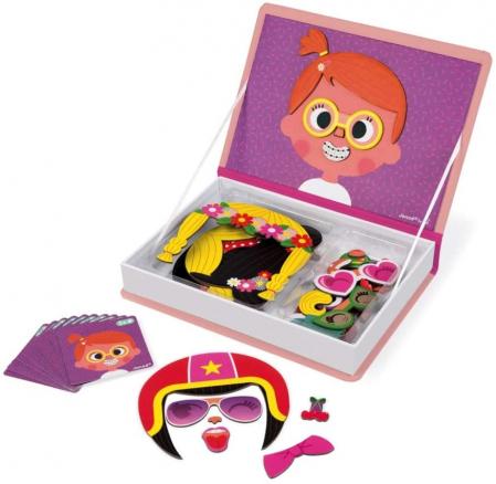 Carte magnetică - Fețe haioase de fetiță - Janod J027172