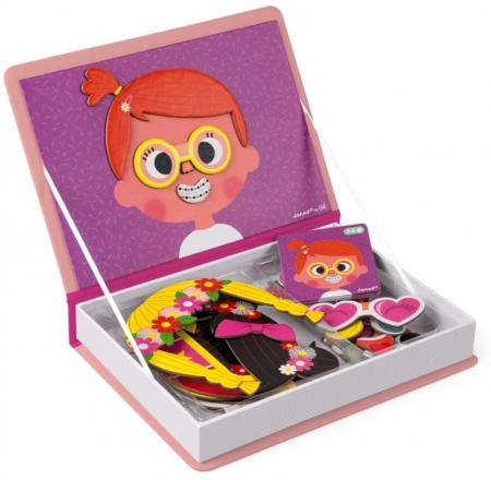 Carte magnetică - Fețe haioase de fetiță - Janod J02717 [6]